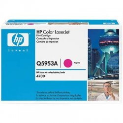 Hewlett Packard (HP) - Q5953A - HP 643A (Q5953A) Magenta Original LaserJet Toner Cartridge - Laser - 10000 Pages - 1 Each
