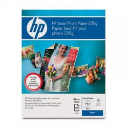 Hewlett Packard (HP) - Q6608A - HP Brochure/Flyer Paper - Letter - 8 1/2 x 11 - 52 lb Basis Weight - Glossy, Smooth - 97 Brightness - 100 / Pack - White