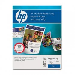 Hewlett Packard (HP) - Q6611A - HP Brochure/Flyer Paper - Letter - 8 1/2 x 11 - 40 lb Basis Weight - Glossy - 97 Brightness - 150 / Pack - White