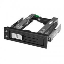 StarTech - HSB13SATSASB - StarTech.com Drive Bay Adapter Internal - Black - 1 x Total Bay - 1 x 3.5 Bay - 6Gb/s SAS, Serial ATA/600 - Serial ATA/600 - Plastic, Aluminum - 5.25
