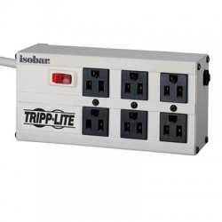 Tripp Lite - ISOBAR6 - Tripp Lite Isobar Surge Protector Metal 6 Outlet 6' Cord 3330 Joules - 6 x NEMA 5-15R - 1440 VA - 3330 J - 120 V AC Input - 120 V AC Output