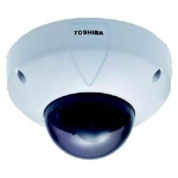 Toshiba - IK-WR01A - Toshiba IK-WR01A Vandal Resistant Network Mini Dome Camera - Color - CCD - Cable