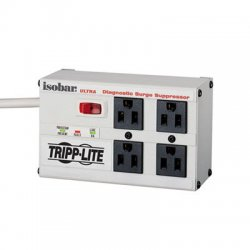 Tripp Lite - ISOBAR4ULTRA - Tripp Lite Isobar Surge Protector Metal 4 Outlet 6' Cord 3330 Joules - 4 x NEMA 5-15R - 1.44 kVA - 3330 J - 120 V AC Input - 120 V AC Output