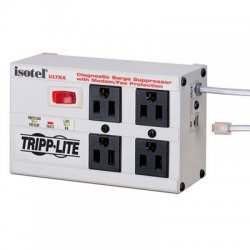 Tripp Lite - ISOTEL4ULTRA - Tripp Lite Isobar Surge Protector Metal RJ11 4 Outlet 6' Cord 3330 Joules - Receptacles: 4 x NEMA 5-15R - 3330J