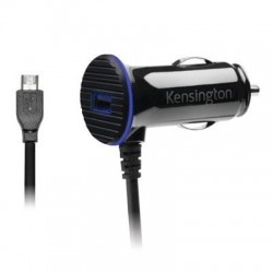 Kensington - K38119WW - Kensington PowerBolt 3.4 Fast Charge Car Charger - 5 V DC Output Voltage - 2.40 A Output Current