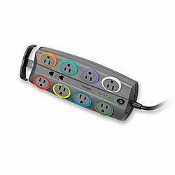 Kensington - 62690 - Kensington SmartSockets 8-Outlet Adapter - 8 x AC Power - 2490 J