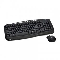Gear Head - KB5195W - Gear Head 2.4 GHz Wireless Desktop with Optical Mouse - USB Wireless RF Keyboard - USB Wireless RF Mouse - Optical - 1200 dpi - Scroll Wheel (PC, Mac)