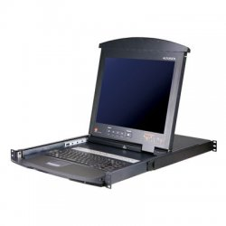 "Aten Technologies - KL9116M - Aten Hideaway 17"" LCD with IP Over the NET & 16-Port KVM Switch - 16 Computer(s) - 17"" Active Matrix TFT LCD - 16 x SPHD-15 Keyboard/Mouse/Video - 1U Height"