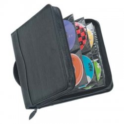 Case Logic - KSW-208 - Case Logic CD Wallet - Book Fold - Koskin - Black - 208 CD/DVD