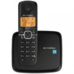 Motorola - L601M - Motorola L601M DECT 6.0 Black Cordless Phone with 1-Handset and Caller ID