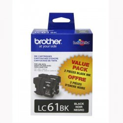 Brother International - LC612PKS - Brother Black Ink Cartridge - Inkjet - 450 Page - 2 / Pack