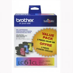Brother International - LC613PKS - Brother Color Ink Cartridges - Inkjet - 325 Page Cyan, 325 Page Yellow, 325 Page Magenta - 3 / Pack