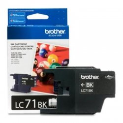 Brother International - LC71BK - Brother Innobella LC71BK Standard Yield Ink Cartridge - Inkjet - Standard Yield - 300 Page - 1 Each