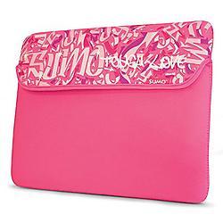 Mobile Edge - ME-SUMO7710X - Sumo 10/11.6 Inch Graffiti Netbook Sleeve - 8.75 x 11.75 x 0.75 - Neoprene - Pink