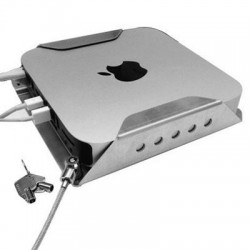 Compulocks Brands - MMEN76 - Mac Mini Secure Mount Enclosure with Lockable Head - Aluminum, Steel - Silver