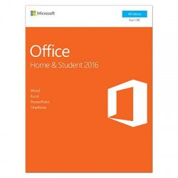 Microsoft - 79G-04589 - Microsoft Office 2016 Home & Student - 1 PC - Non-commercial, Medialess - Office Suite Box - PC - English