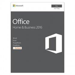 Microsoft - W6F-00796 - Microsoft Office 2016 Home & Business - 1 Mac - Medialess - Office Suite Box - Intel-based Mac - English