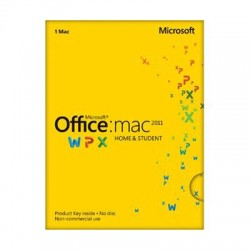 Microsoft - GZA-00267 - Microsoft Office: Mac 2011 Home and Student - License - 1 Install - Standard - Intel-based Mac - Retail - English