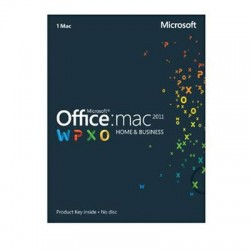 Microsoft - W6F-00198 - Microsoft Office for Mac Home and Business 2011 - License - Mac - English