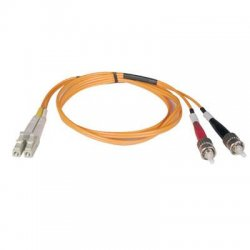 Tripp Lite - N318-03M - Tripp Lite 3M Duplex Multimode 62.5/125 Fiber Optic Patch Cable LC/ST 10' 10ft 3 Meter - LC Male - ST Male - 9.84ft - Orange