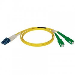 Tripp Lite - N366-01M-AP - Tripp Lite 1M Duplex Singlemode 8.3/125 Fiber Optic Patch Cable LC/SC/APC 3' 3ft 1 Meter - LC Male Network - SC Male Network - 3.28ft