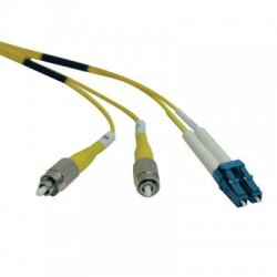 Tripp Lite - N378-02M - Tripp Lite 2M Duplex Singlemode 8.3/125 Fiber Optic Patch Cable LC/FC 6' 6ft 2 Meter - LC Male - FC Male - 6.56ft - Yellow
