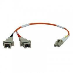 Tripp Lite - N458-001-62 - Tripp Lite 0.3M Duplex Multimode Fiber Optic 62.5/125 Adapter LC/SC M/F 1ft 1' 0.3 Meter - (LC-SC M/F) 0.3M (1-ft.)
