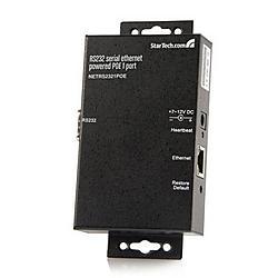 StarTech - NETRS2321POE - StarTech.com Serial Ethernet device server - 1 port - power over Ethernet - PoE - 1 x RJ-45 10/100Base-TX PoE
