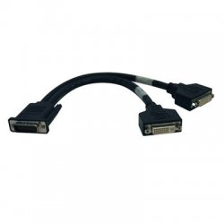 Tripp Lite - P576-001 - Tripp Lite 1ft DMS-59 Graphics Card to Dual DVI Splitter Y Cable M/Fx2 - (M to 2x DVI-I F) 1-ft.