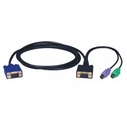 Tripp Lite - P750-015 - Tripp Lite 15ft PS/2 Cable Kit for B004-008 KVM Switch 3-in-1 Kit - 15ft