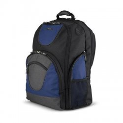 "Toshiba - PA1452U-1BS6 - Toshiba PA1452U-1BS6 Carrying Case (Backpack) for 16"" Notebook - Black, Blue - Ballistic Polyester, Ripstop Polyester - 18"" Height x 12.5"" Width x 9"" Depth"