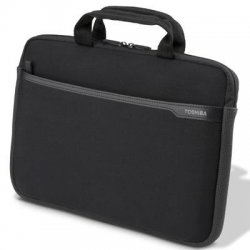 "Toshiba - PA1502U-1SN3 - Toshiba PA1502U-1SN3 Carrying Case for 13.3"" Notebook, Key, Cellular Phone, Accessories, Mouse - Black - Water Resistant - Neoprene - Handle - 9"" Height x 13.3"" Width x 1"" Depth"
