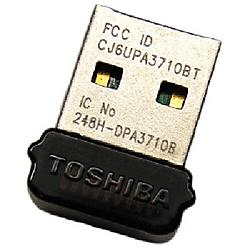 Toshiba - PA3710U-1BTM - Toshiba Bluetooth 2.1 - Bluetooth Adapter - USB - 723 Kbps - 2.40 GHz ISM - 33 ft Indoor Range