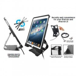 CTA Digital - PAD-ASCS - CTA Digital Anti-Theft Security Case with Stand for iPad Air - Black