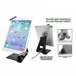 CTA Digital - PAD-UATGS - CTA Digital Universal Anti-Theft Security Grip with Stand for Tablets - Black