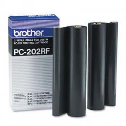 Brother International - PC202RF - Brother Black Ribbon Cartridge - Thermal Transfer - 450 Page - 2 / Box