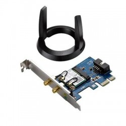 Asus - PCE-AC55BTB1 - Asus IEEE 802.11ac Bluetooth 4.2 - Wi-Fi/Bluetooth Combo Adapter - Mini PCI Express - 1.17 Gbit/s - 2.40 GHz ISM - 5 GHz UNII