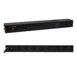 CyberPower - PDU15M2F12R - CyberPower Metered PDU15M2F12R 14-Outlets PDU - 14 x NEMA 5-15R - 1U Rack-mountable, Zero U Vertical Rackmount