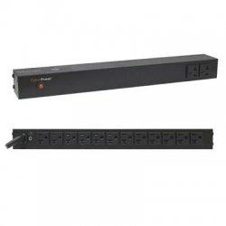 CyberPower - PDU20BT2F12R - CyberPower Basic PDU20BT2F12R 14-Outlets PDU - 14 x NEMA 5-20R - 1U Rack-mountable, Zero U Vertical Rackmount