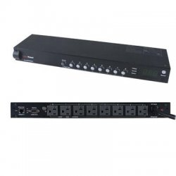 CyberPower - PDU20SW8RNET - CyberPower Switched PDU20SW8RNET - Power distribution unit (rack-mountable) - AC 120 V - Ethernet, RS-232 - input: NEMA 5-20 - output connectors: 8 (NEMA 5-20) - 1U - for Smart App Intelligent LCD OR2200, Smart App Online