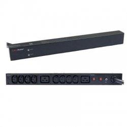 CyberPower - PDU30BHVT10R - CyberPower Basic PDU30BHVT10R 10-Outlets PDU - 2 x IEC 60320 C19, 8 x IEC 60320 C13 - 1U Rack-mountable, Zero U Vertical Rackmount