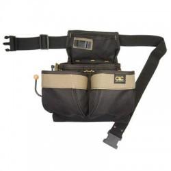 Custom Leathercraft - PK1836 - Custom Leather Craft PK1836 5-Pocket Poly Web Belt Framer's Nail and Tool Bag