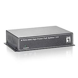 CP Tech / Level One - POS-4000 - LevelOne POS-4000 High Power PoE Splitter 12V 30W Indoor - 12V DC - 30W
