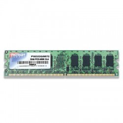 Patriot Memory - PSD22G6672 - Patriot Signature DDR2 2GB CL5 PC2-5300 (667MHz) DIMM - 2 GB - DDR2 SDRAM DDR2-667/PC2-5300 - 1.80 V - Non-ECC - Unbuffered - 240-pin - DIMM - Retail