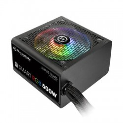 Thermaltake - PS-SPR-0500NHFAWU-1 - Thermaltake Smart RGB PS-SPR-0500NHFAWU-1 500W 80 PLUS ATX12V 2.3 Power Supply w/ Active PFC (Black)