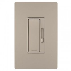 Pass & Seymour - RH703PNICCV4 - On-Q/Legrand radiant Hard Wire Dimmer/Switch Combo - Paddle Switch - Light Control - Nickel