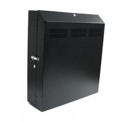 StarTech - RK419WALVS - StarTech.com Wall-Mount Server Rack with Dual Fans and Lock - Vertical Mounting Rack for Server - 4U - 19 4U Wall Mounted
