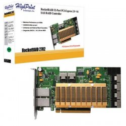 HighPoint Technologies - ROCKETRAID2782 - HighPoint RocketRAID 2782 32-port SAS RAID Controller - Serial ATA/600 - PCI Express 2.0 x16 - Plug-in Card - RAID Supported - 0, 1, 5, 10, 50, JBOD RAID Level - 8 Total SAS Port(s) - 6 SAS Port(s) Internal - 2