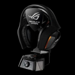 Asus - ROGCENTURION - Asus Headphone Speakers ROG Centurion true 7.1 gaming headset with 10 discrete drivers digital microphone Hi-Fi-grade headphone amplifier and USB audio station Retail