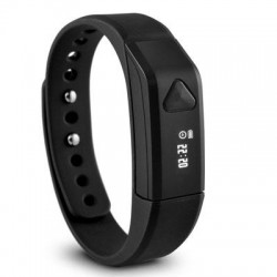 Ematic - SB312BL - Ematic TrackBand Smart Band - Wrist - Pedometer - Alarm - Calories Burned - Bluetooth - Bluetooth 4.0 - Black - Tracking, Health & Fitness, Communication - Water Resistant
